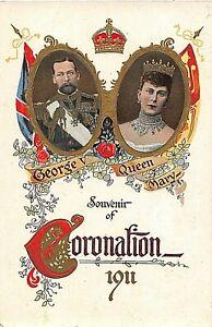 POSTCARD ROYALTY GEORGE V & QUEEN MARY - CORONATION SOUVENIR 1911