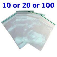 Small clear-Clear Bags Plastic Baggies Grip Self Seal Resealable Zip Lock B3 UK