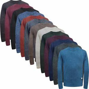 Mens Jack & Jones Cotton Crew Neck Regular Fit Knitted Jumper Ribbed Pullover