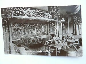 Real Photograph/Postcard - GLASTONBURY, SET OF TILES, ABBOTS KITCHEN. VALENTINES