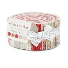 "Moda MISS SCARLET Jelly Roll 14810JR 40 2.5"" Fabric Strips By Minick & Simpson"