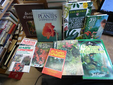Lot de 10 livres sur les plantes d'appartement et jardins d'intérieur
