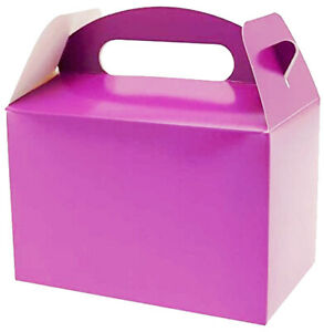 10 Childrens Kids Party Purple Lunch Boxes, Birthday Food Boxes, Party Food Box