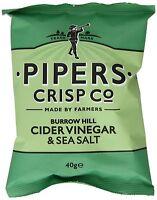 Pipers Crisps -Burrowhill Cider Vinegar & Sea Salt (24 x 40g)