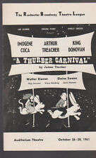 A Thurber Carnival Program 1961 Imogene Coca Arthur Treacher King Donovan
