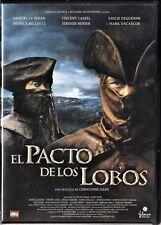 EL PACTO DE LOS LOBOS de Christophe Gans. España tarifa plana envíos DVD: 5 €