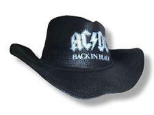 AC/DC Logo Back In Black Straw Cowboy Hat