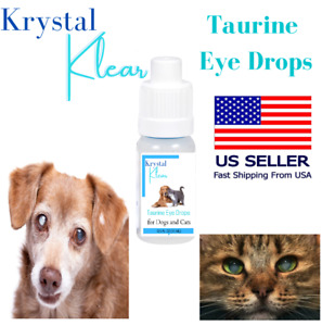 Cataract Taurine Eye Drops for Dogs and Cats NAC 15 ML Dropper Bottle Ships FAST