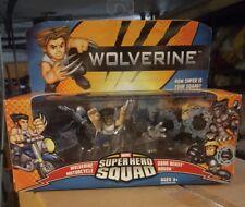 Super Hero Squad Figures Wolverine Motorcycle Dark Beast Havok NEW Toy