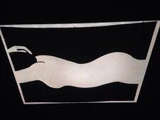 """Moshe Hoffman """"Sleeping Woman"""" Israeli Art 35mm Glass Slide"""