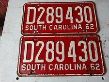 Pai 1962 South Carolina license plates