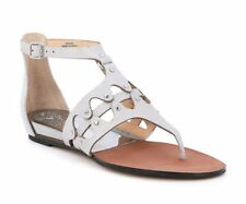 a6fcc0d9f19a Vince Camuto Womens Sandals Size 9.5m Silver Metallic Leather Andorra