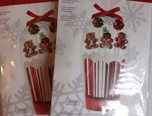 4 WILTON Homemade Pops Gift Kit 4 Containers 4 Gift Bags 4 Ribbons 4 Tags
