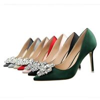 Ladies Ankle Strap Party Shoes Bling Platform High Heels Sandals US Size S909