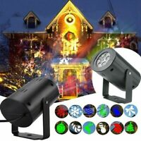 LED Christmas Projector Lights Laser Landscape Xmas Move Fairy Lamps Home Decor