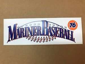 Vintage Seattle Mariners MLB Bumper Sticker 1985 - NOS!!! - FREE SHIPPING!!!