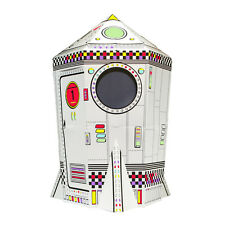 Colour Your Own Cardboard Playhouse Cubby House Play Tent Rocket. FREE POST
