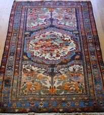 """ANTIQUE KURDISH TRIBAL HAND-KNOTTED WOOL ORIENTAL RUG  4'1"""" X 6'2"""" EXCELLENT"""
