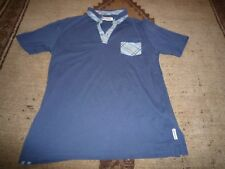 Ben Sherman button-down polo shirt - Mid blue with light blue - 12 - 13 yrs
