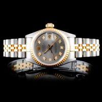ROLEX CERTIFIED LADIES 18K/SS DATEJUST JUBILEE DIAMOND WRISTWATCH