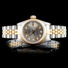 ROLEX CERTIFIED LADIES 18K/SS DATEJUST JUBILEE DIAMOND WRISTWATCH
