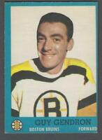 1962-63 Topps Boston Bruins Hockey Card #16 Jean-Guy Gendron