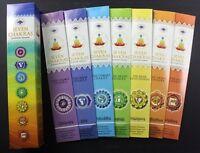 SEVEN CHAKRAS Incense Sticks or BULK GIFT PACK Meditation Spirit Yoga Green Tree