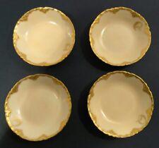 Antique H & Co L France Haviland Porcelain Gold Gilt Salt or Finger Dishes