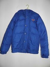 Hollister mens down and feather Jacket Coat Size small Blue