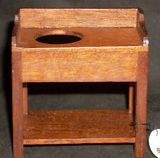 Dollhouse Miniature Wash Stand Washstand 1:12 Mexican Import #WEA2026 Dark Wood