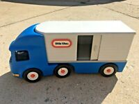 Little Tikes Semi Tractor Trailer Truck Made in USA Sturdy Plastic Ride On 90's