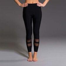 ACTIVE WEAR Yoga Pants Leggings Fitness GYM Running Mesh Panel FAST FREE POST