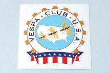 """DECORO Adesivo """"VESPA CLUB USA"""" - America America US v50 PK PX GL Sticker Club"""