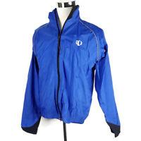 Pearl Izumi Mens Jacket Blue Vented Long Sleeve Full Zip Size Large Mens Cycling