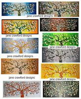 original tree of life art oil painting Australia woods forest flower abstract