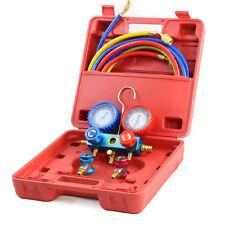 Manifold Gauge Set R134A AC A/C 5FT Colored Hose Air Condition Refrigerant Case