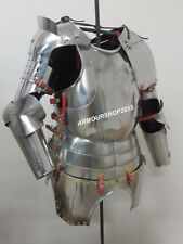Medieval Gothic Suit of Armor Half Suit Breastplate Back Plate