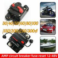 30-300Amp Car Circuit Breaker Fuse Reset 12V-24V DC Car Boat Auto IP67 2 Poles