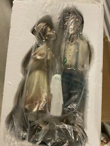 Bronze Boy and Girl Statue, 1 Foot
