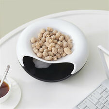 A Bowl of Nuts Seeds Food Snack Plastic Storage Box Double Deck Practical