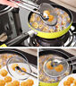 Multifunctional Filter Spoon With Clip Food Kitchen Oil-Frying Colander Filter