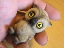 Vintage Miniature Josef originals Fuzzy Owl Figurine