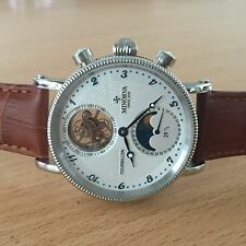 MINORVA SS Moonphase date 1-Min.Real Flying Tourbillon white