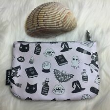 IPSY Halloween Cosmetic Bag Rare Special Design Zipper Closure with Ghost Pull