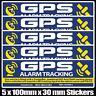 CAR ALARM WARNING DECAL / GPS TRACKING, 5 PACK Car Bike Boat Anti-Theft Sticker
