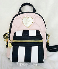 Betsey Johnson Mini Convertible Crossbody Backpack - BLUSH