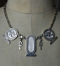 Customize your name on Hallmark Egyptian Pharaoh Silver Elegant Necklace Collar