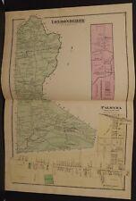 Pennsylvania Lebanon County Map Londonderry Palmyra 1875 Double Pg/Side W15#36