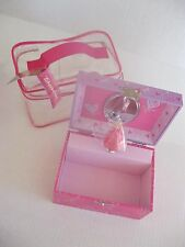 "New Barbie Musical Girl's Jewelry Box- Figure Spins- Plays ""Waltz ofThe Flowers"""