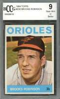 Brooks Robinson Card 1964 Topps #230 Baltimore Orioles BGS BCCG 9